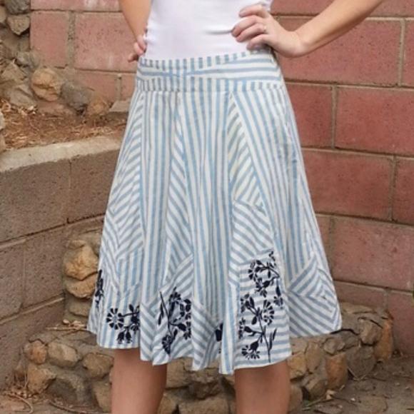 6538d275efc Anthropologie Dresses & Skirts - Anthropologie Lithe Hazel Hedge Striped  Midi Skirt